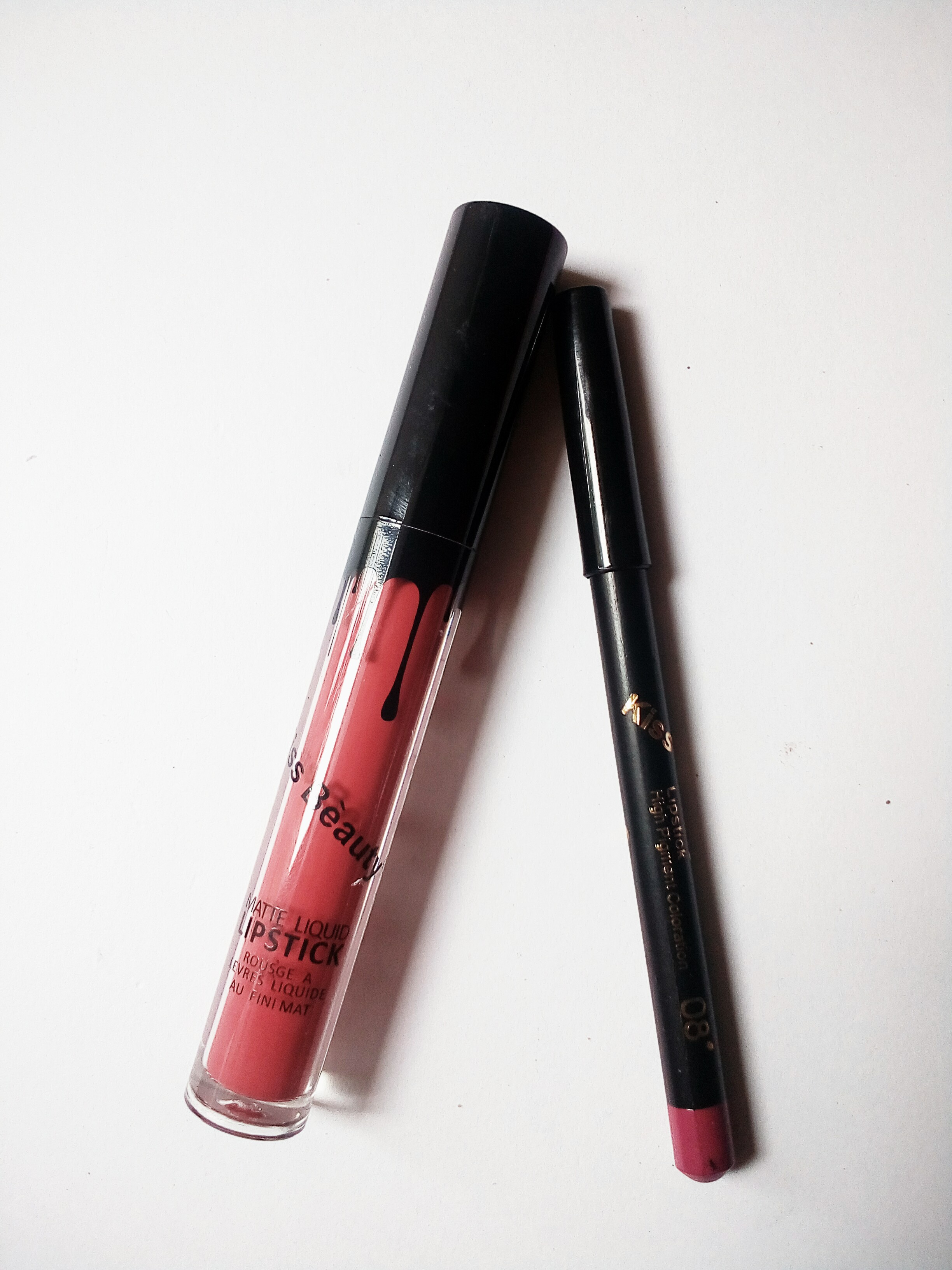 Kiss Beauty Matte Liquid Lipstick And Lip Liner Review And